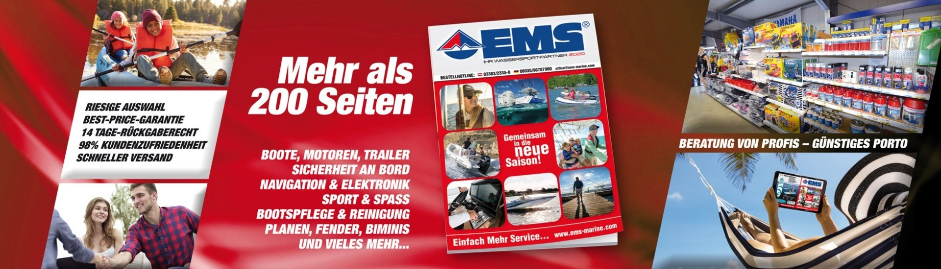 EMS Marine - 200 Seiten Boots und Marine Katalog mit Riesen Auswahl an Booten, Motoren, und Bootszubehör